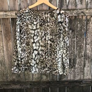 Zara Tops - Zara Snakprint Chiffon Top Sz Medium